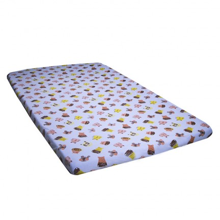 """Tiger & Friends"" Baby Mattress Cover"