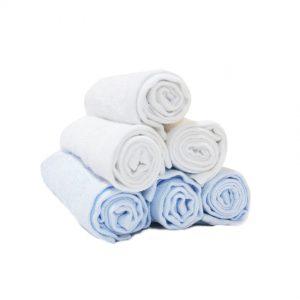 blue-washcloth